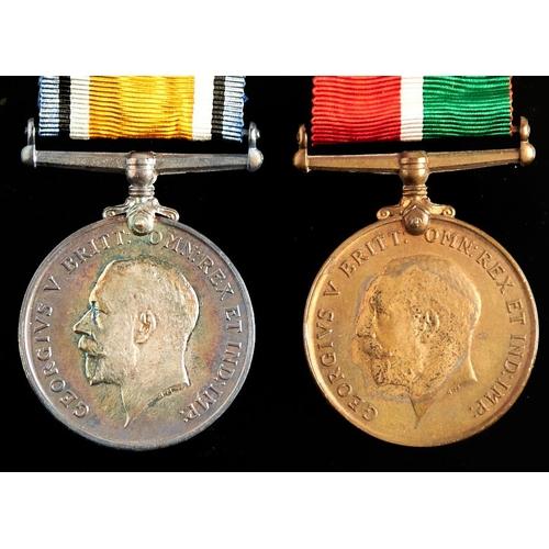 367 - World War I pair, British War Medal and Mercantile Marine Medal Allan W Marshall