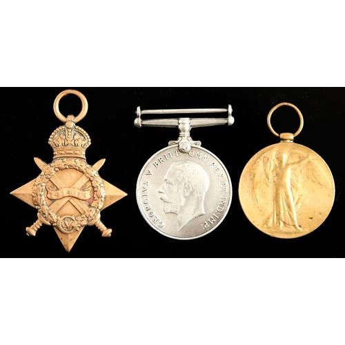 369 - World War I group of three, 1914-15 Star, British War Medal and Victory Medal 119841 PNR J H Tallent...