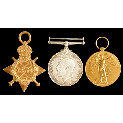 375 - World War I group of three, 1914-15 Star, British War Medal and Victory Medal 694 SPR J Olds RE...