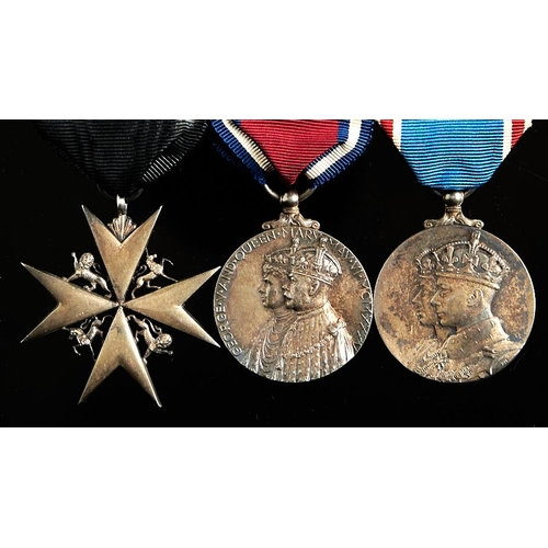 377 - Order of St John breast badge, Silver Jubilee Medal 1935 and Coronation 1937...