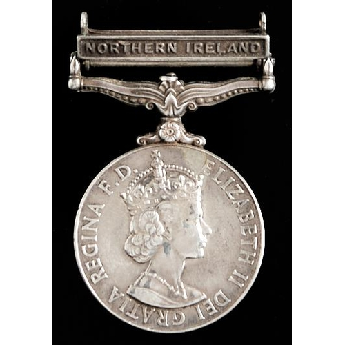 378 - General Service Medal, one clasp Northern Ireland 25180034 PTE M Scott