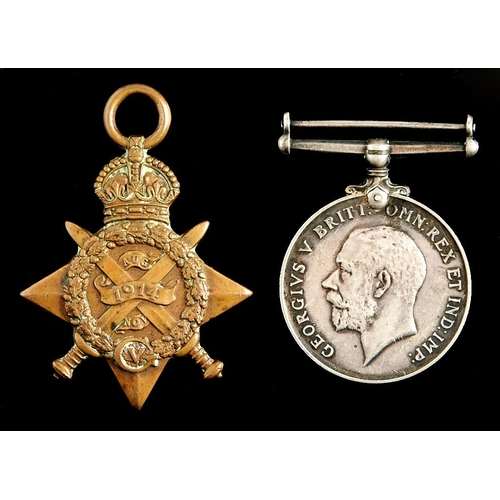 382 - Word War I pair, 1914-15 Star and British War Medal L8212 L CPL C H Backhouse 1/ The Queen's R [8212...