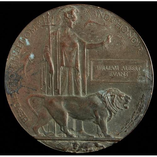 386 - A World War I memorial plaque, William Albert Evans
