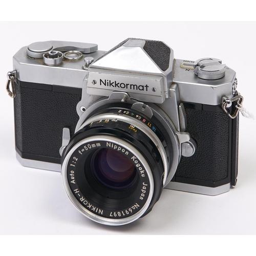 412 - A Nikon Nikkormat FTN SLR camera, with Nikkor-H 50mm F2 lens