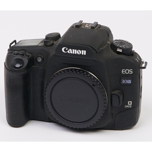 449 - A Canon EOS 30V SLR 35mm camera body, with body cap