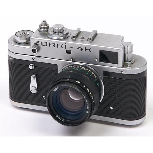 451 - A Zorki 4K 35mm camera, with Jupiter-8 50mm F2 lens