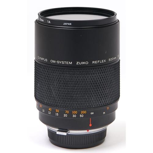 457 - An Olympus OM-System Zuiko Reflex 500mm F8 mirror lens, with lens caps
