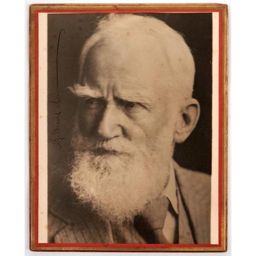 478 - Autograph. George Bernard Shaw - photograph signed in ink G Bernard Shaw, 20 x 25cm