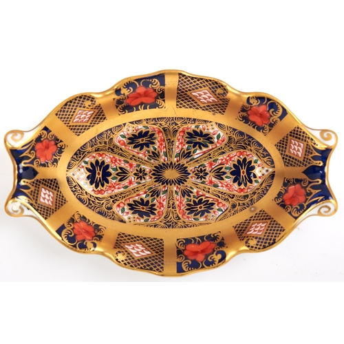 485 - A Royal Crown Derby Imari dish, 14 x 8.5cm
