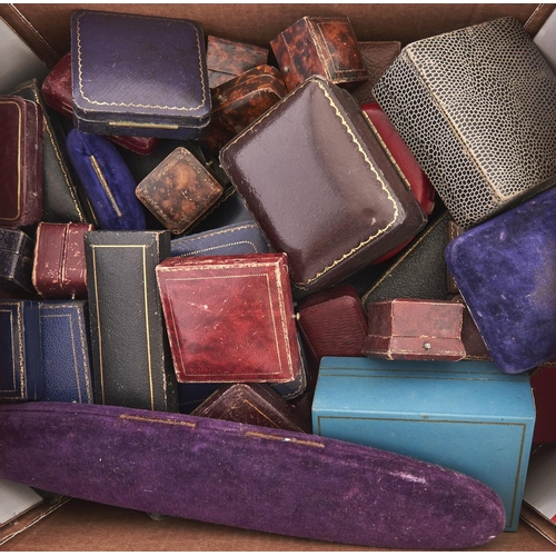 612 - Miscellaneous Victorian and later leather and other jewel boxes(approximately 60)...