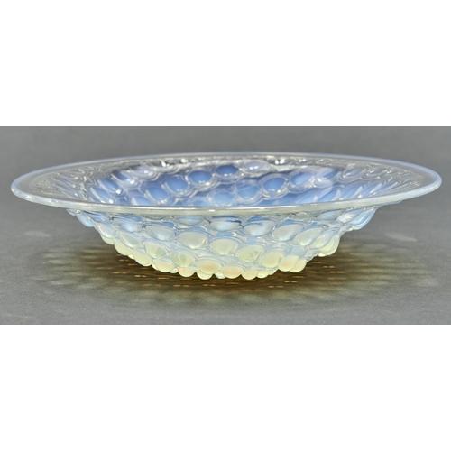 764 - Volutes Coupe Ouverte. A Lalique semi opalescent glass dish, 24.5cm diam, stencil etched mark R LALI...
