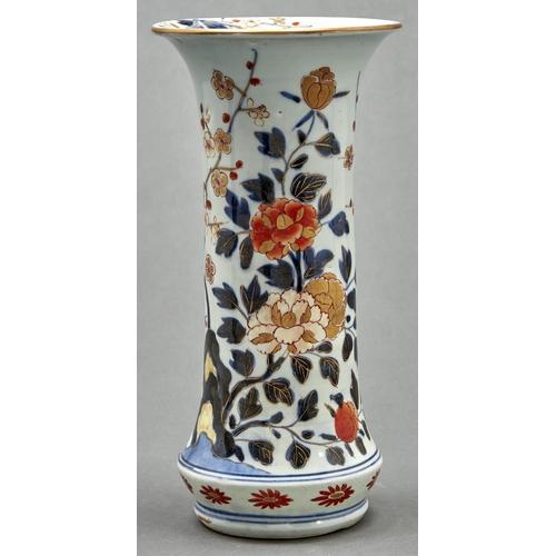 793 - A Japanese Imari vase, Edo period, 18th c, of cylindrical form, 30cm h