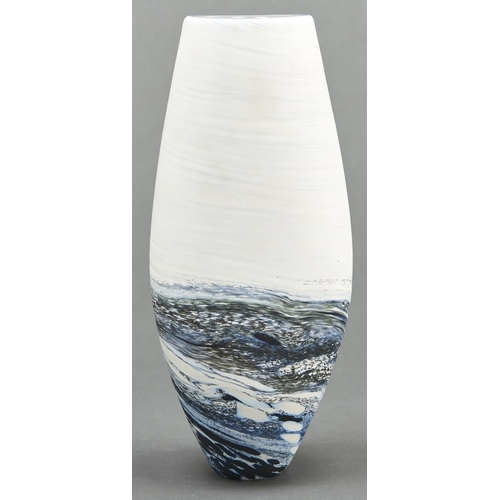 865 - A Teign Valley cased glass Seascape vase, 21st c, 29cm h