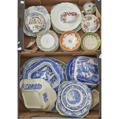 954 - Miscellaneous ceramics, to include tea ware, saucers and cups by Coalport, Bloor Derby Spode, Victor...