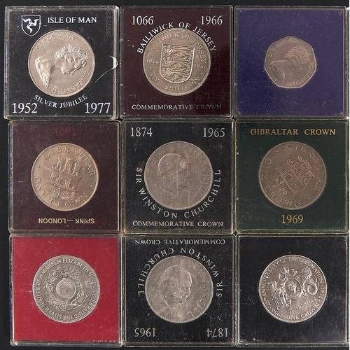 981 - Fourteen United Kingdom cupro nickel commemorative crowns