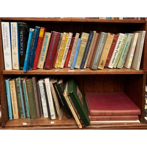 1222 - Art reference and collecting. Two shelves of books to include Bennione, Antique Medical Instruments...