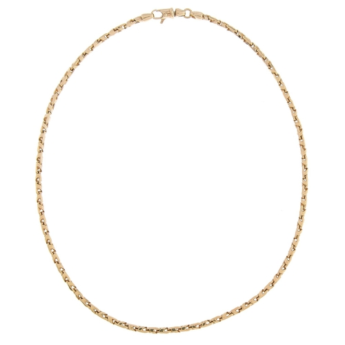 516 - A gold necklace,41cm l, marked 375, 18.5g