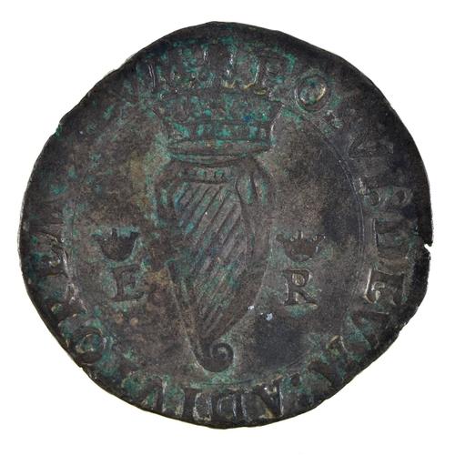 10 - Ireland, Elizabeth I, Base Silver Shilling, 1st coinage, mm rose, 8.6gm, (ex-Seaby 50/- 1963), weak ...