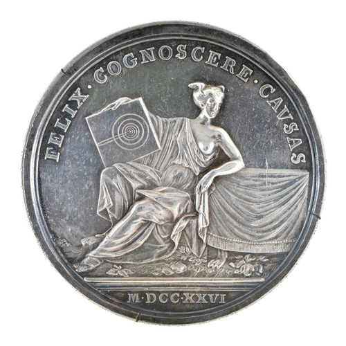 17 - Death of Isaac Newton commemorative silver medal, 1727, struck 1740 by J Croker (Eimer 504) 51mm, 60...