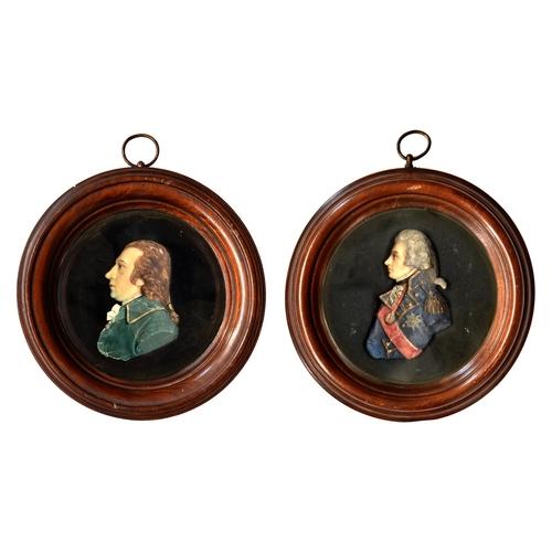 19 - JamesTassie (1735-1799) - wax miniature of JamesGregory,polychrome painted wax on black glass, 7....