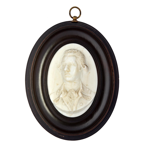 28 - A glass paste portrait medallion of WilliamPitt the Younger, c1806impressed W Pitt to the truncati...