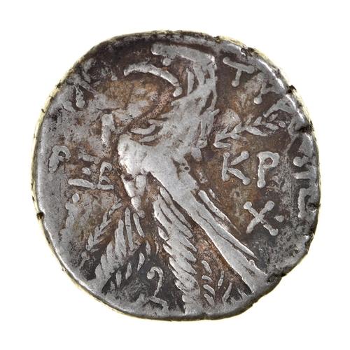 3 - Ancient Greece, Phoenicia, Tyre, Ar Tetradrachm or Shekel, head of Melqarth right, KP to right, 14.1...