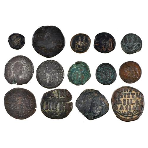 6 - Roman Imperial Coinage, Augustus with Agrippa, Nemausus, Ae As; Constantine Ae3; Urbs Roma Ae3/4; Bi...