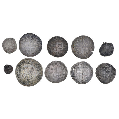 8 - England, Hammered Silver, Henry VI, Groat, annulet issue, Calais, short flan crack, otherwise almost...
