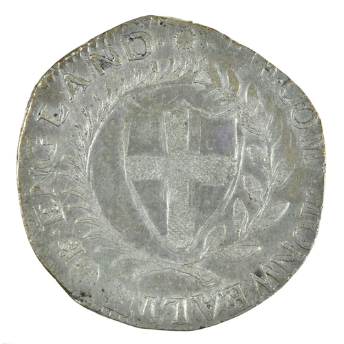 9 - England, Commonwealth, Halfcrown, 1652, (extremely weak 5 at date), possibly a contemporary counterf...