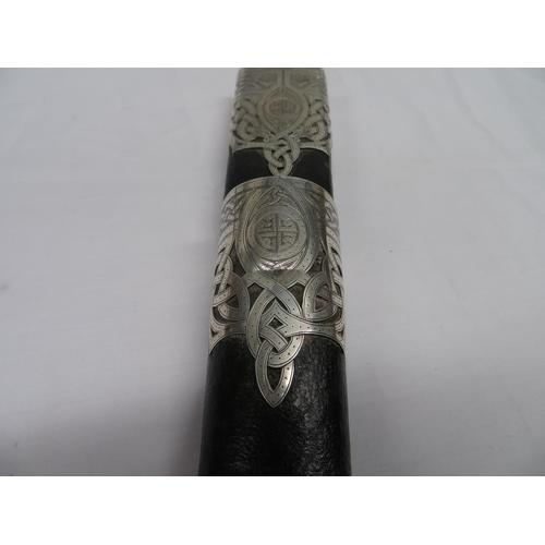 10 - Victorian silver Scottish dirk by R and HB Kirkwood - early Victorian Edinburgh hallmarks - full set...