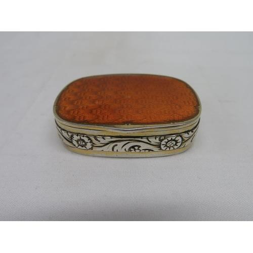 56 - Hallmarked and guilloche enamel pillbox...