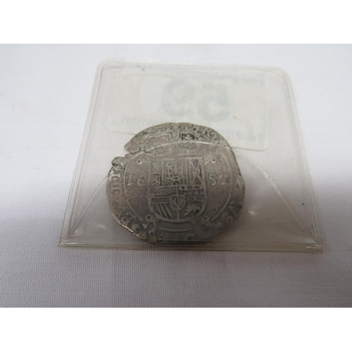 59 - 1652 hammered coin...
