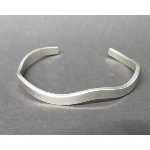 11 - Hallmarked silver wave bangle bracelet 13grams...