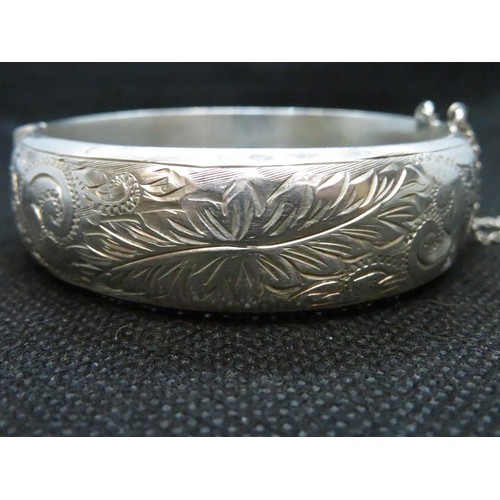 21 - Vintage silver bangle HM Birmingham 1964 29g...