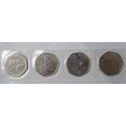 Flopsy Bunny set of 4x 50p coins
