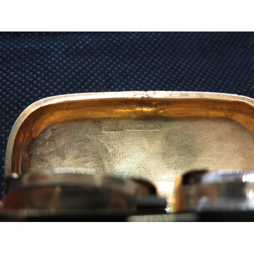 160 - 9ct full and half sovereign case 31g...