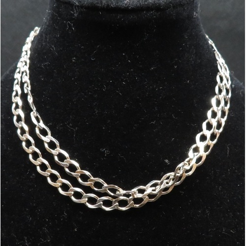 "Stamped 925 silver curb chain 18"" 6.7g"