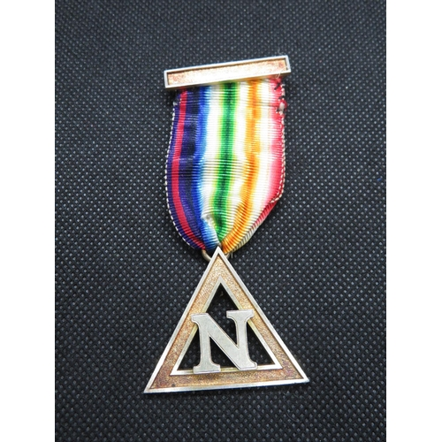 Fully HM silver Masonic jewel 16g