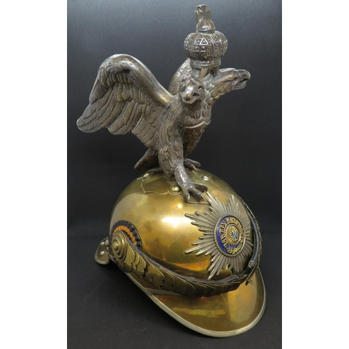 230 - Russian pre revolution double headed eagle helmet...