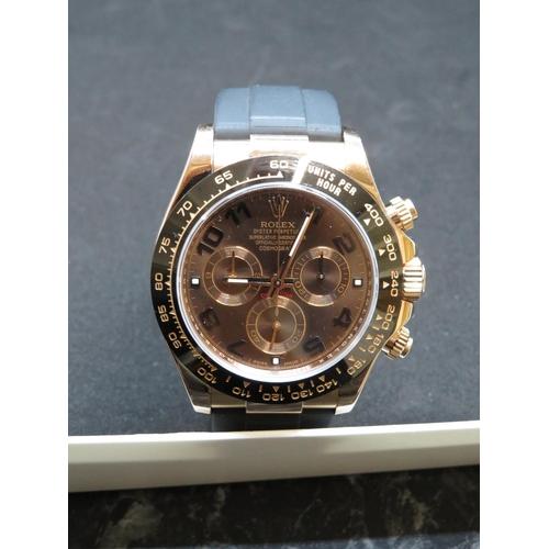 328 - Rolex Cosmograph Daytona 18ct gold watch - Model 116515LN with full paperwork, manual, instruction b...