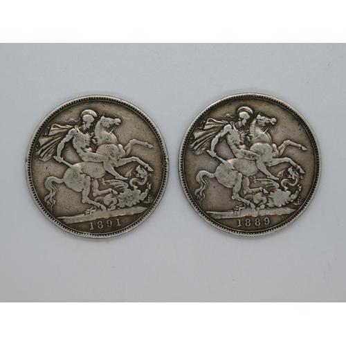 2x silver crowns