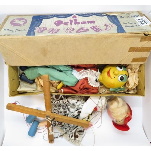 Pelham puppet plus one early boxed Mr Turnip
