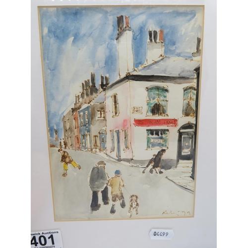 401 - Harold Francis Riley artist original watercolour 6