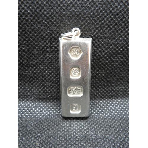 41 - Solid silver ingot Sheffield HM 1978 31.4g...