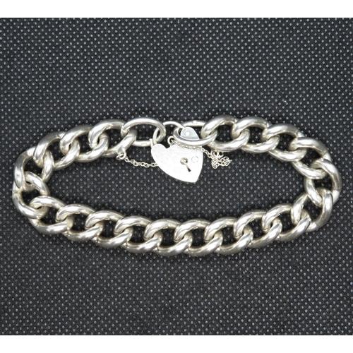 57 - Vintage heavy silver bracelet Birmingham 1975  56.4g...