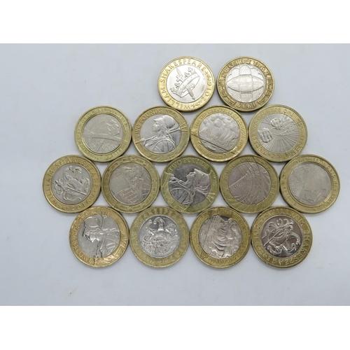 Collection of rare £2.00 coins