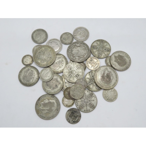 Bag of pre-1947 silver coins 213g