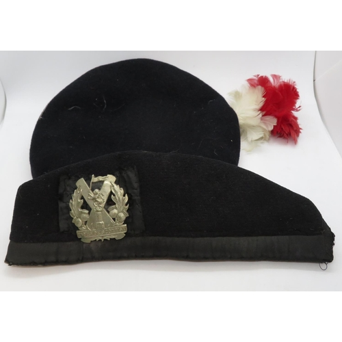 WWI Tyneside Scottish Glengarry to N Peters along with WWII Northumbrian Fusiliers beret