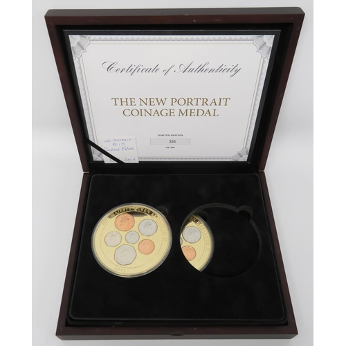 New portrait coinage medals in collector's box  Limited Edition 2015
