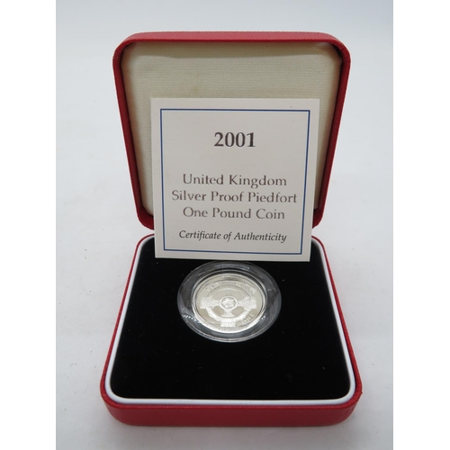 Silver proof Piedfort £1.00